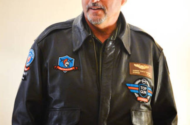 Darren Thomas in Top Gun jacket