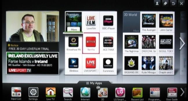 LG Smart menu