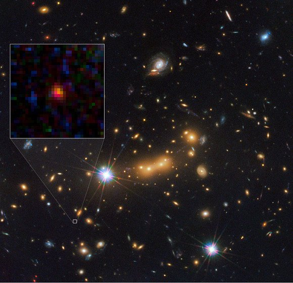 Most distant galaxy MACS0647-JD
