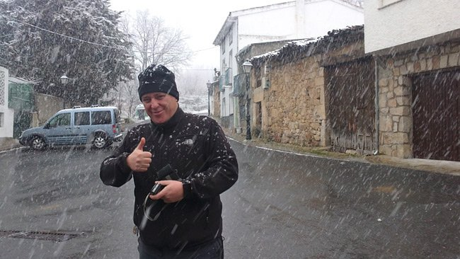 Me in a snowstorm, March 2011