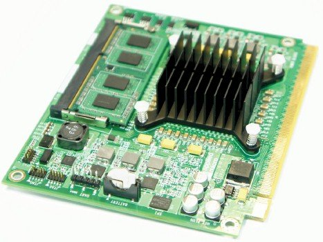 The X-Compute board based on the Applied Micro X-Gene ARM server