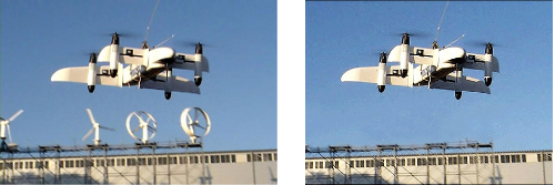 Photographs of the two drones
