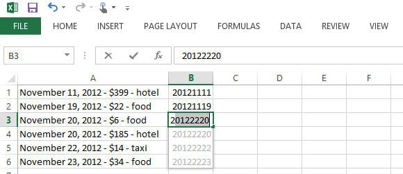Excel 2013's new Flash Fill feature isn't as smart as it thinks it is