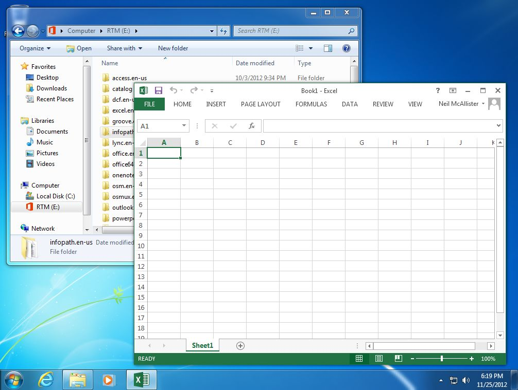 Microsoft office 2013 heads for the cloud but fails to for Windows 7 bureau vide