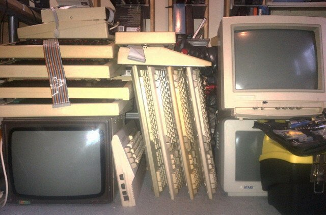 Mr Hammond's stack of antique computer kit