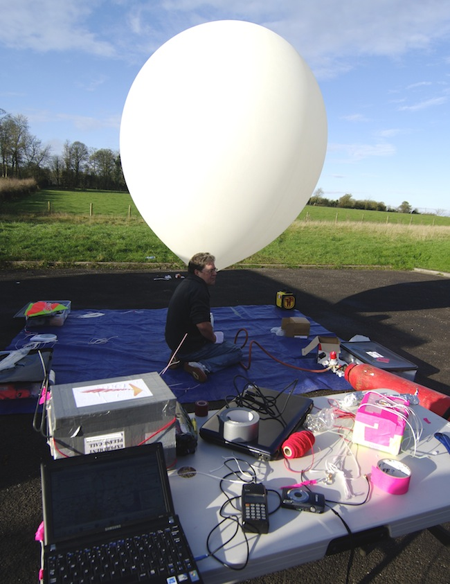 The balloon almost at full launch size