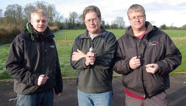 From left to right: Anthony Stirk, Dave Akerman and Neil Barnes