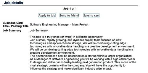 NetApp SW Engineering Manager for Mars Project