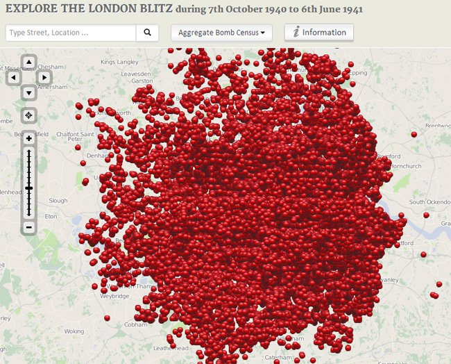 The Bomb Sight London Blitz map