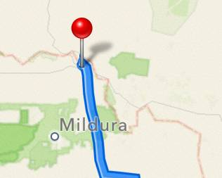 Mildura is still marked in the wrong place on Apple's iOS6 maps