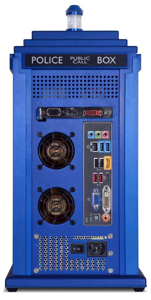 Scan Doctor Who Tardis PC case