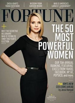 Yahoo! CEO Marissa Mayer on the cover of Fortune