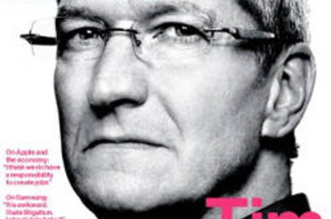 Apple CEO Tim Cook on the cover of Bloomberg Businessweek