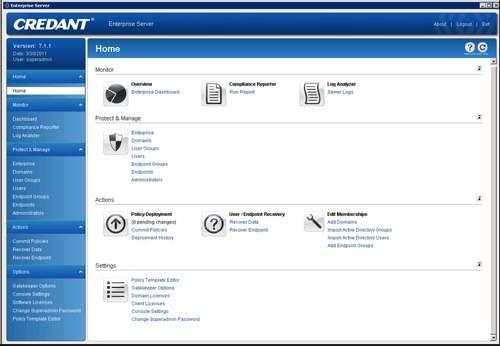 Credent Enterprise Server screenshot