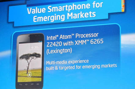 Intel announces its reference platform for smartphones in emerging markets