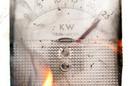 An overloaded kilowatt meter