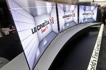 LG curved OLED TVs