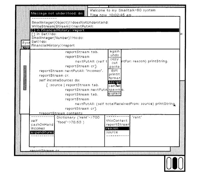 Xerox Smalltalk programming