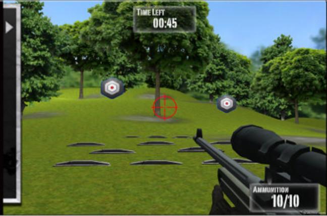 Screengrab of NRA: Practice Range, an iPad app