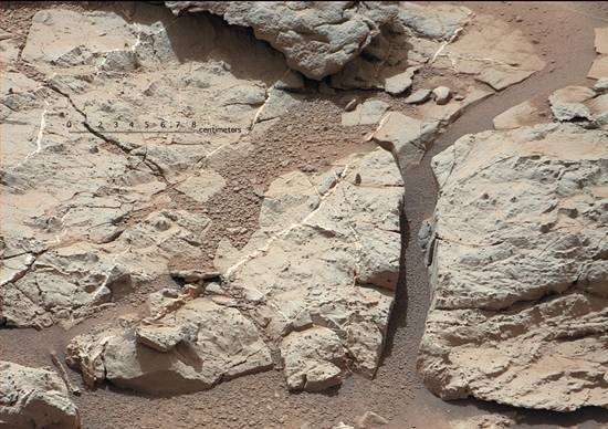 Mars veins in rocks