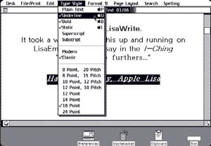 Apple LisaWrite