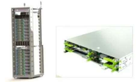 The rack and server design for Facebook's cold storage
