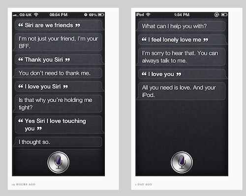 Siri screenshots, screengrab Shit Siri Says