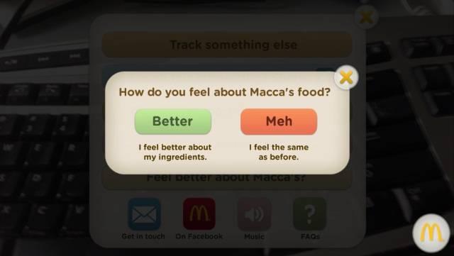 McDonalds Australia's'Track My Macca's' app