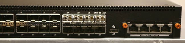 10GBase-T, SFP+ and Fibre Optic ports all on one switch.