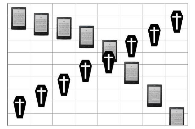 Oldies deaths rise, e-reader sales fall
