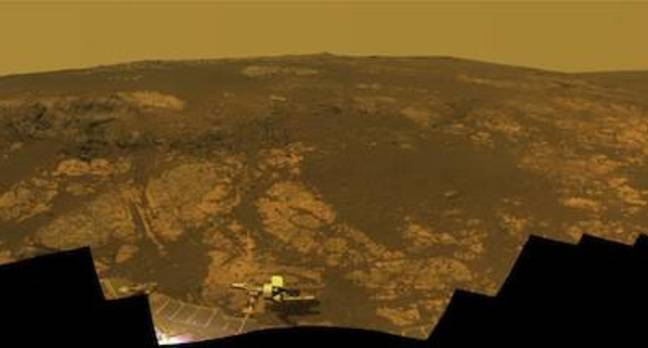 Matijevic Hill, current location of the Opportunity Rover
