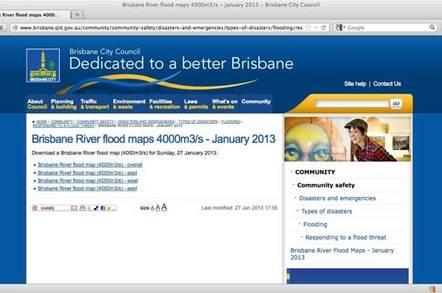 Desktop version of brisbane flood map