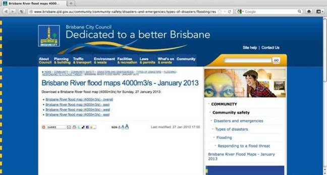 Desktop version of brisbane flood map