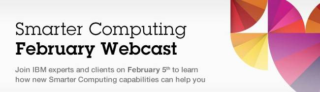 Logo for IBM's Smarter Computing event on February 5