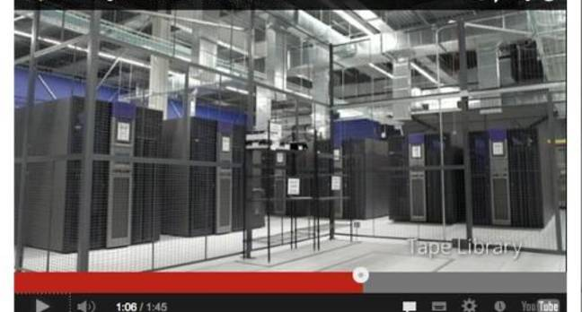 Google Lenoir datacentre with Oracle tape libraries