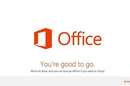 Screenshot of the Office 2013 installer for Office 365