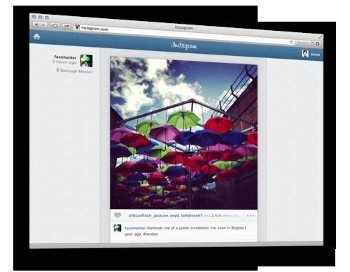 Instagram website
