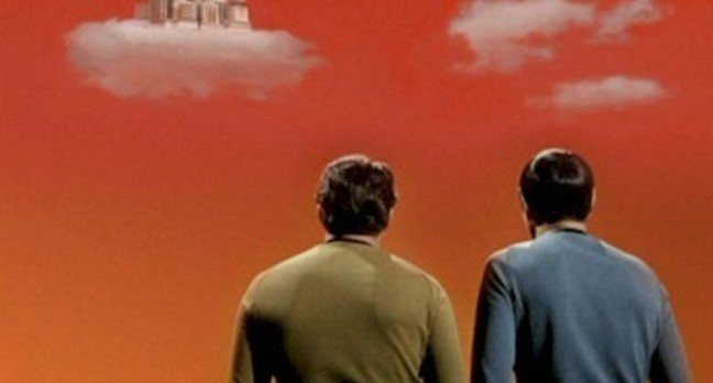 Kirk and Spock contemplate castles built in the air