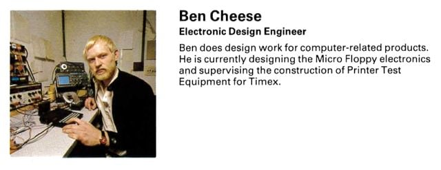 Ben Cheese in Sinclair's 1982 staff guide