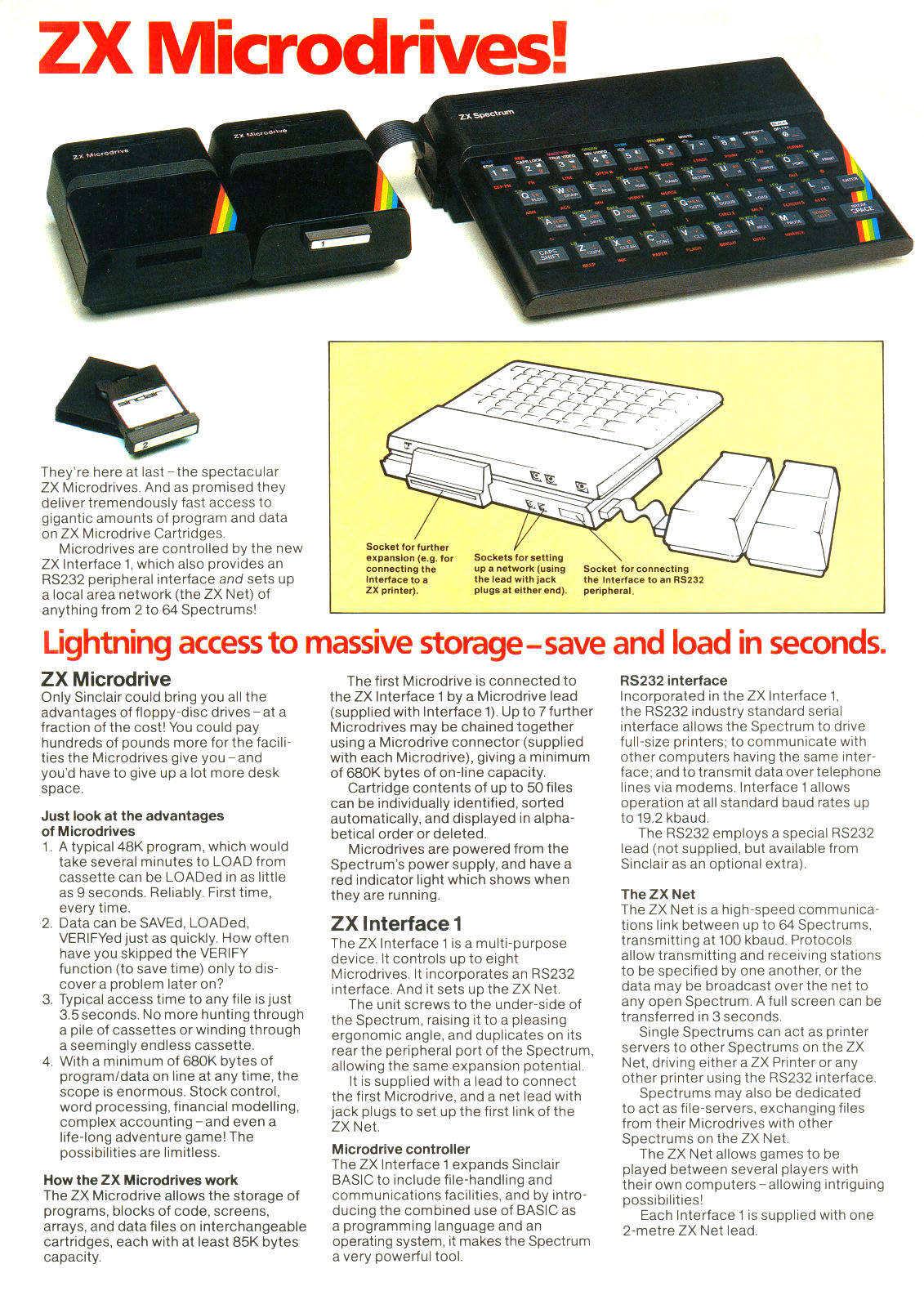 Sinclair ZX Microdrive advert