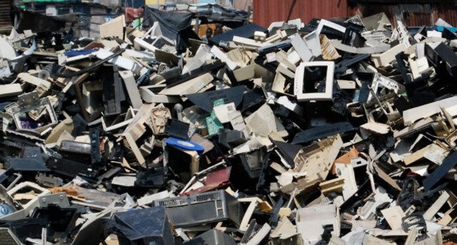 Electronic waste dump in China