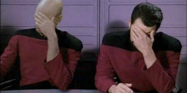 Double Facepalm; when one facepalm is not enough.