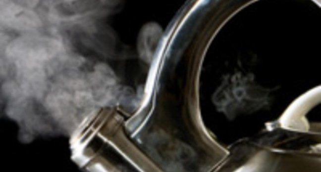 Steam coming from a boiling kettle