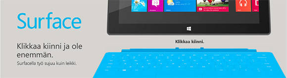 Online ad for Surface RT in Finland