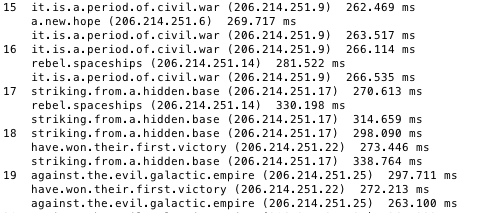 Traceroute Reveals Star Wars Episode Iv Crawl Text The Register