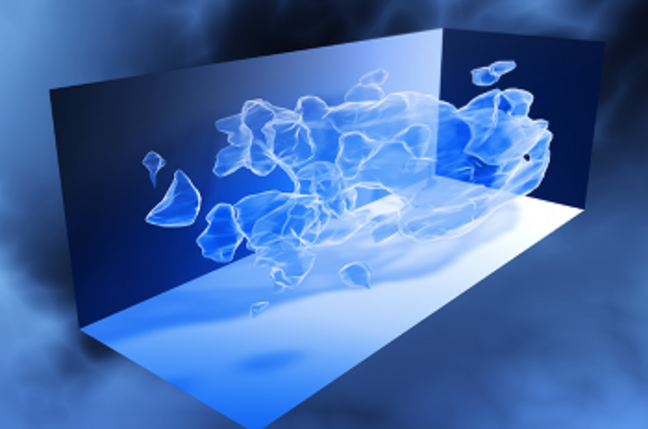 Three-dimensional distribution of dark matter in the Universe