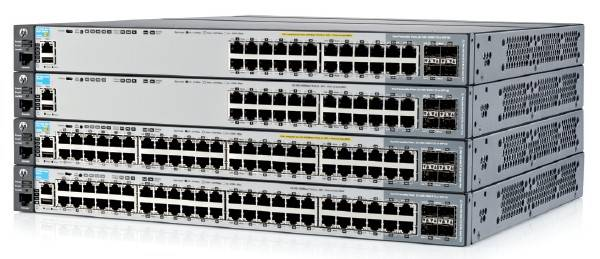 The stackable and rackable HP 2920 switches
