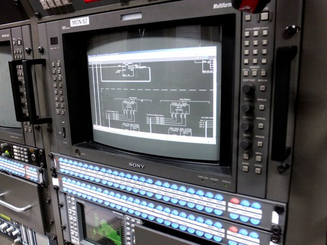 OB truck matrix switcher
