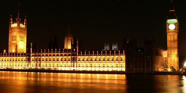 Houses of Parliament at night-time