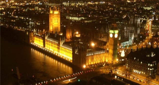 Houses of Parliament in night-time